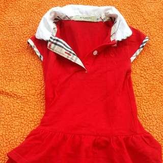 Dress anak burberry murah