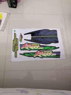 Motor sticker Modenas KRISS 110 ELECTRIC STARTER blue green