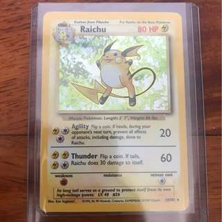 Pokemon Card Base Set Raichu