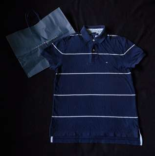 Tommy Hilfiger Striped Regular Fit Polo Shirt