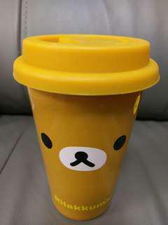 鬆弛熊-雙層保暖陶瓷杯