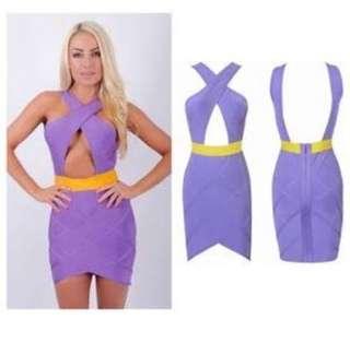 Cross Cut Bandage Dress