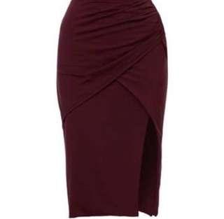 Kookai BLACK Ayer Midi Skirt