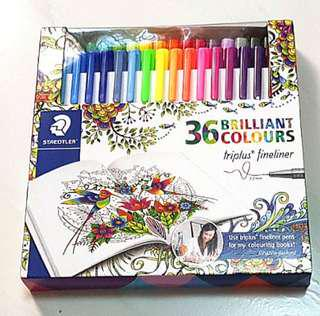 STAEDTLER 0.3mm Triplus Fineliner Pens (36 Brilliant Colours)