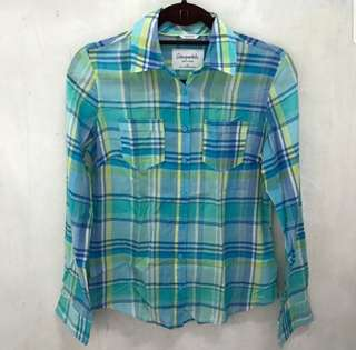 Aeropostale Plaid Top