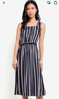 Zalora Stripe Midi Dress
