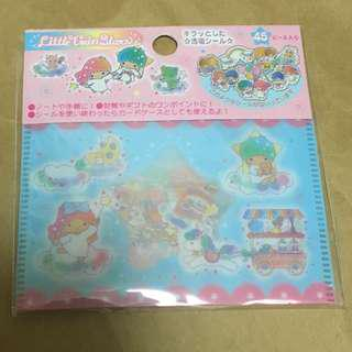 *全新*Little Twin Stars stickers x 45