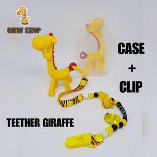 Teether Giraffe With Case + Clip
