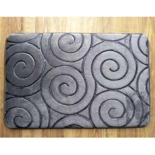 Suede Bathroom Floor Mat (1 for $9 / 3 for $25) Ready Stocks
