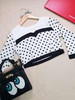 Polka Dots Cropped Top