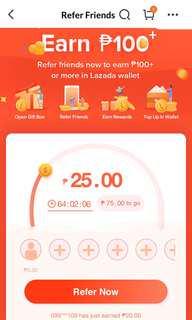 Earn P20.00 Lazada Wallet Link In Description