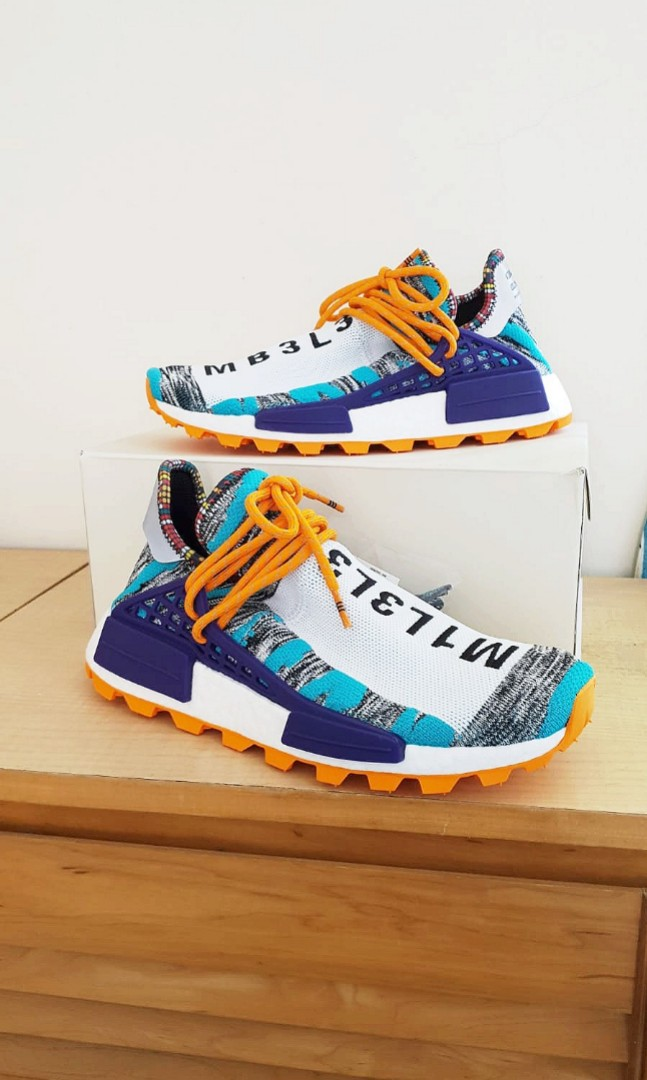 73d77db1fd281 Adidas x Pharrell Williams Afro Hu NMD - Aqua Core Black