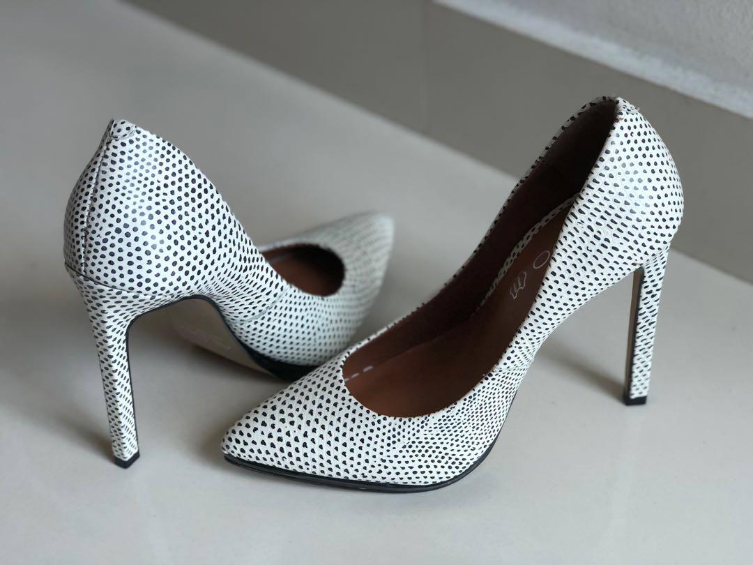 b4cc6e626b6 ALDO black and white high heels 12 cm