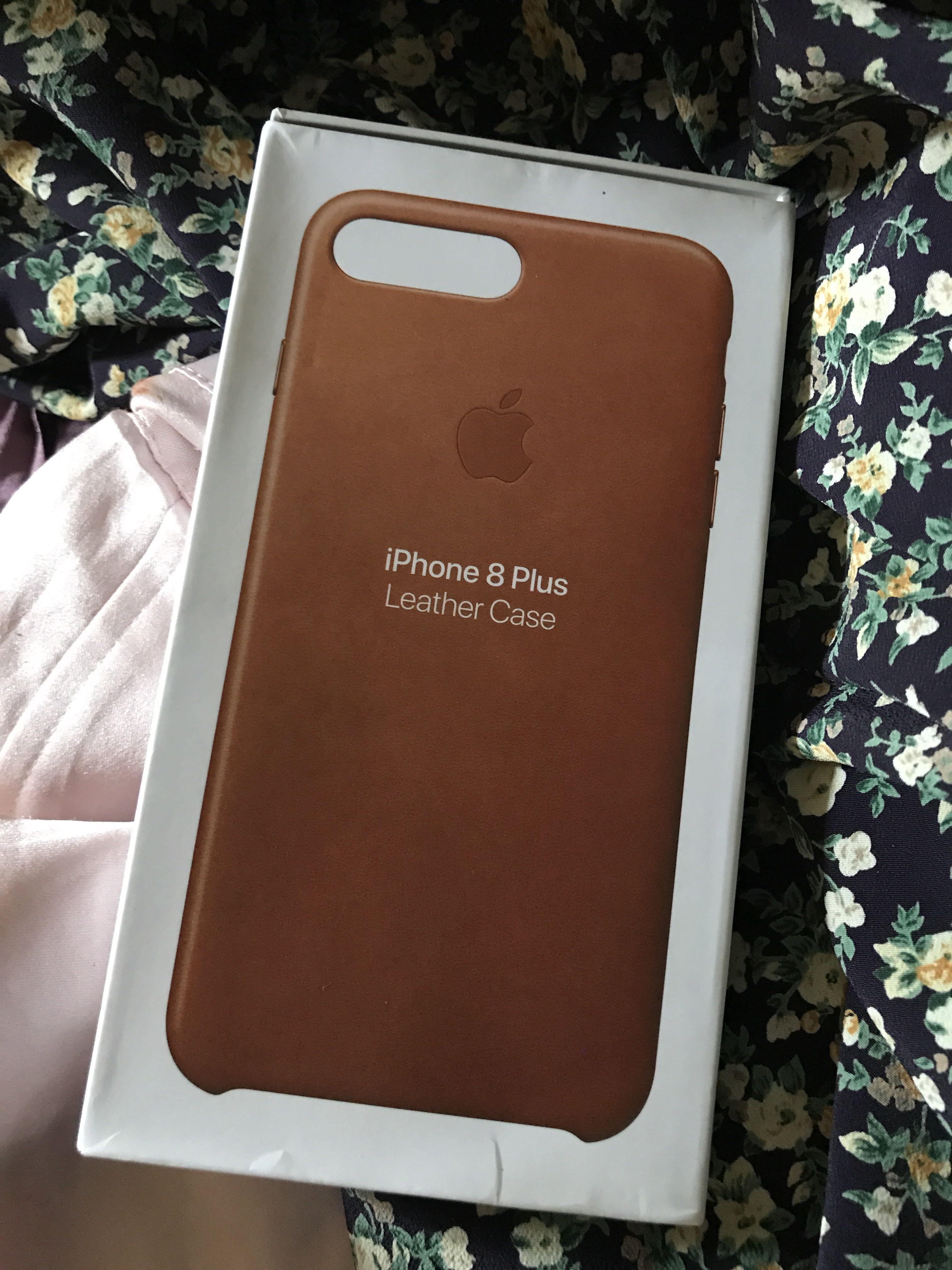 Apple Leather Case Saddle Brown (Original) iphone 7 plus i phone 8 plus ca32b33baebe