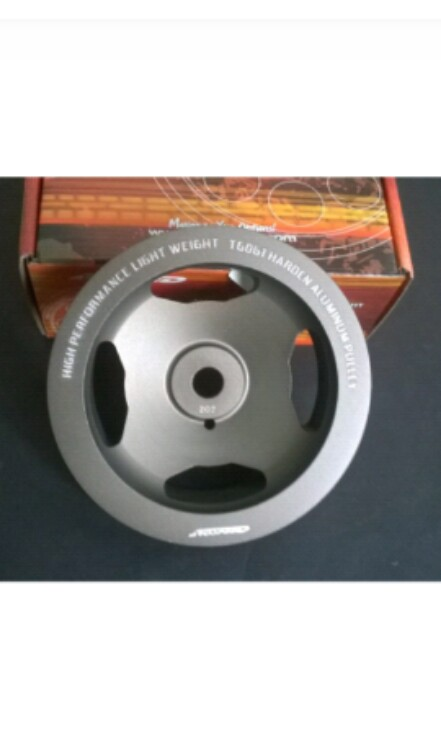 Arospeed lightweight crank pulley for proton campro