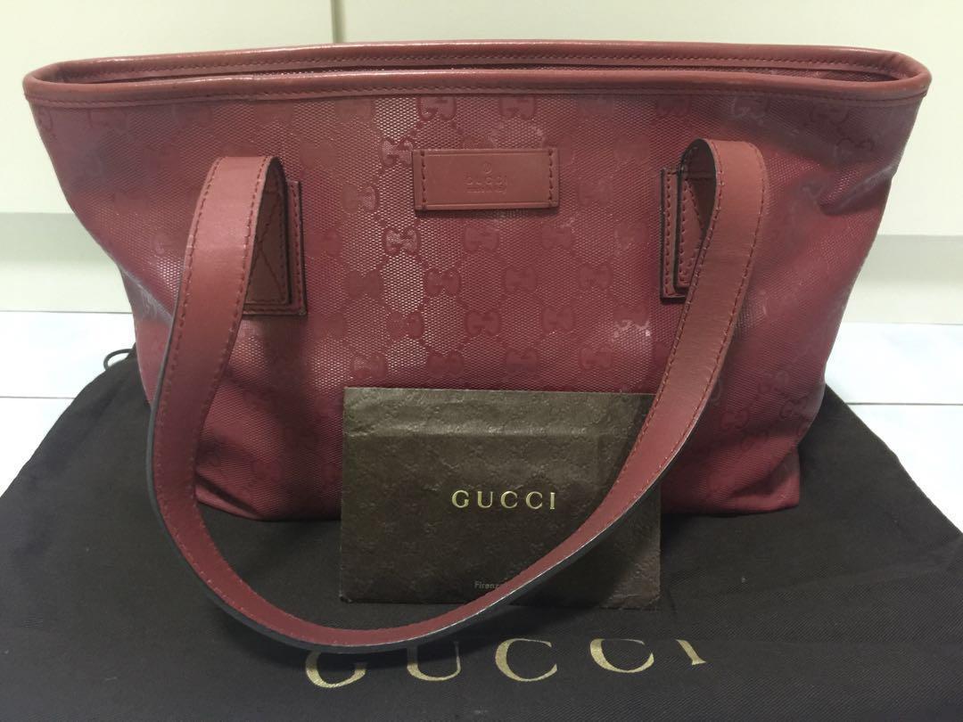 f42f4fbdf91f Authentic Gucci Guccissima GG Crystal Coated Canvas Tote Bag, Luxury ...