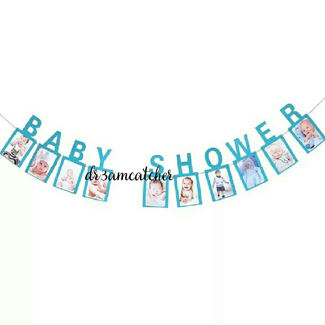 Baby Shower Banner In Blue Babies Kids Toys Walkers On Carousell