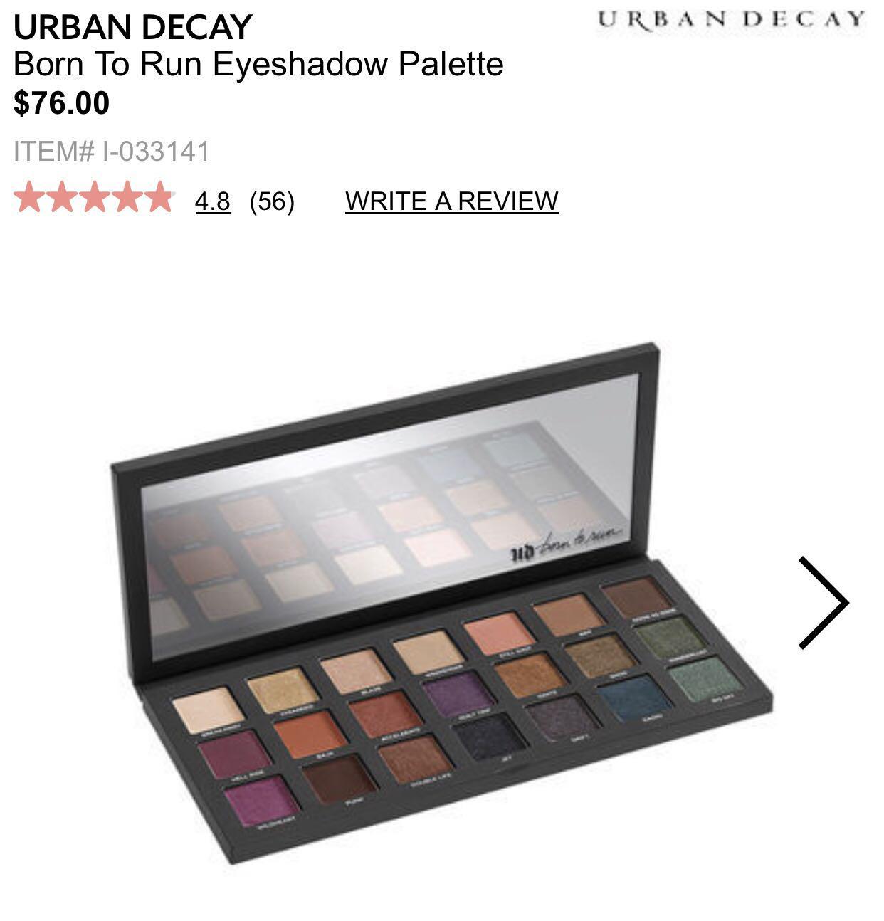 Born to run eyeshadow palette
