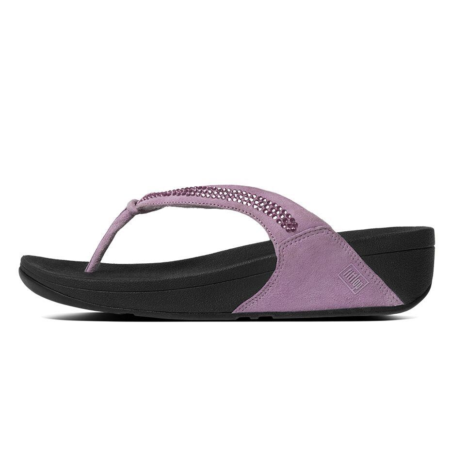 24a2188ac BRAND NEW FitFlop Crystal Swirl Flip Flops Dusty Lilac