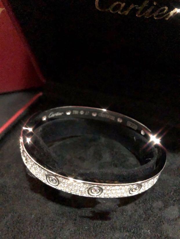 Cartier All-Diamond Bracelet