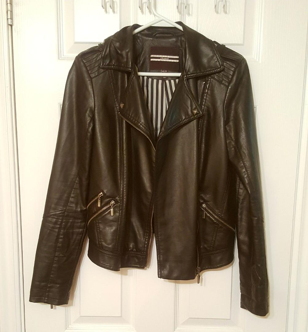 Dynamite Faux Leather Jacket (size xs) - In great condition, barely worn!