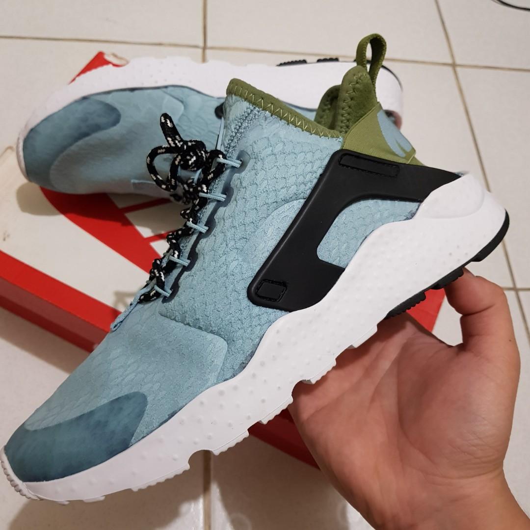 c5202d0aa678 Nike Womens Nike Air Huarache Run Ultra SE Mica Blue Running Shoes Sz 8