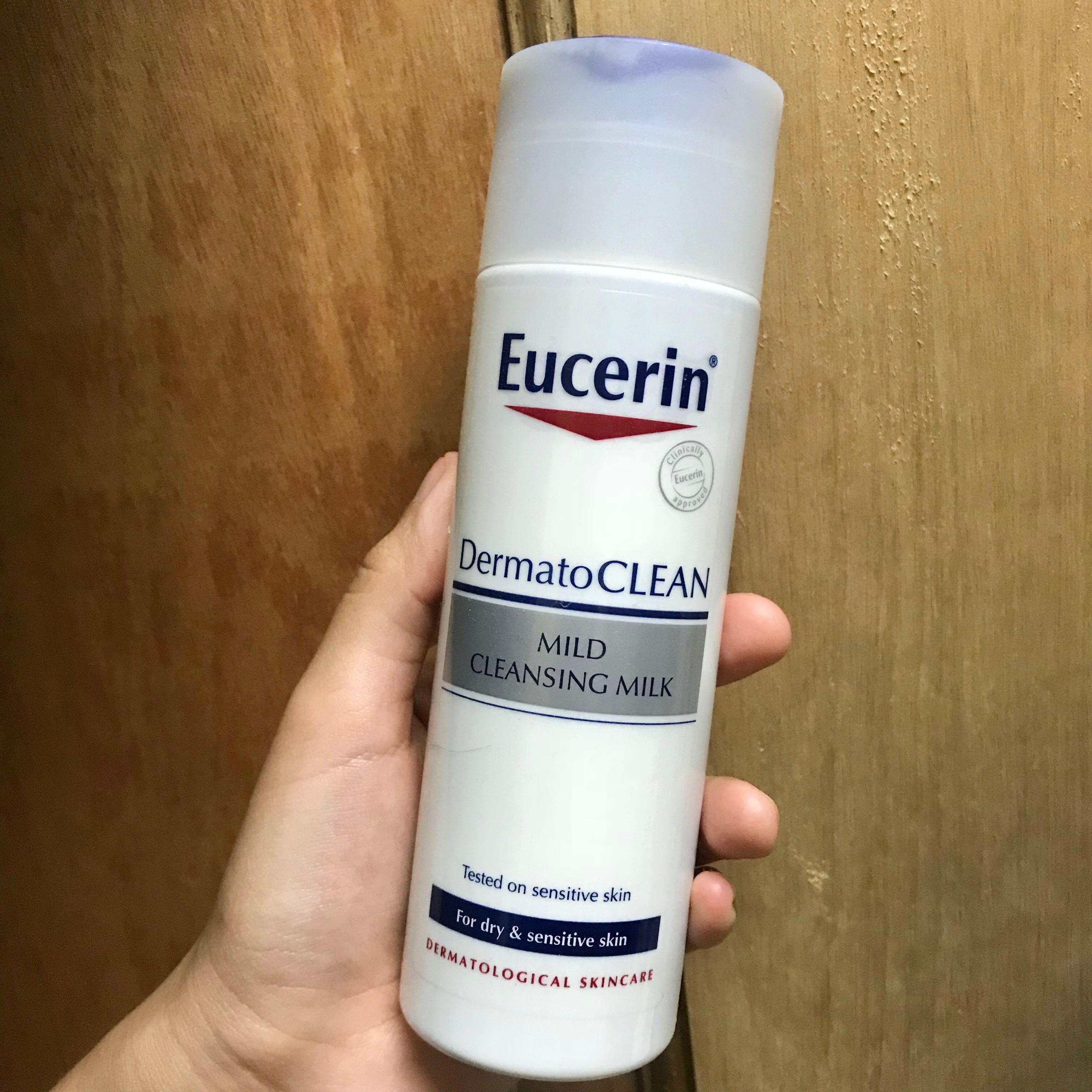 Eucerin Milk Cleanser Health Beauty Skin Bath Body On Carousell Mild Cleansing