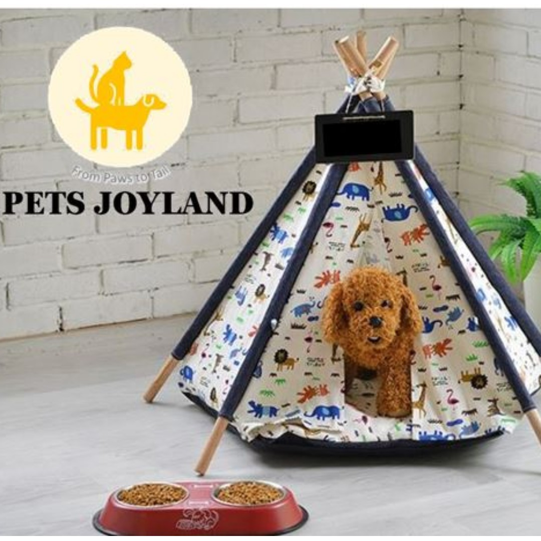 Pet s Canopy Teepee Tent Canvas Bed ce31f50d9432c