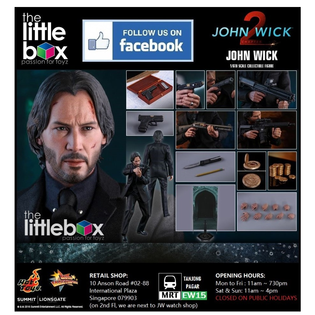 Hot Toys John Wick : Chapter 2 MMS504 John Wick 1/6 scale Collectible Figure