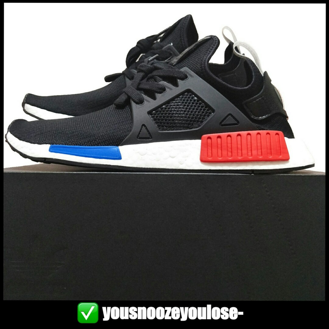 fe8b414a 🔵INSTOCK🔴 ADIDAS NMD XR1 PRIMEKNIT PK OG CORE BLACK / RED / BLUE, Men's  Fashion, Footwear, Sneakers on Carousell