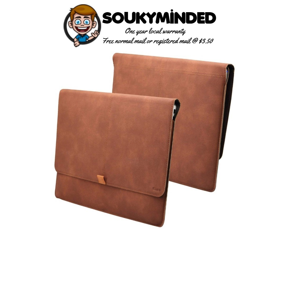 size 40 2bcde 34a05 [IN-STOCK] Valkit Macbook Air 13 inch Sleeve, Macbook Pro 13 inch Retina,  iPad Pro 12.9 Sleeve, Top PU Leather Cover Case Laptop Carrying Bag For ...