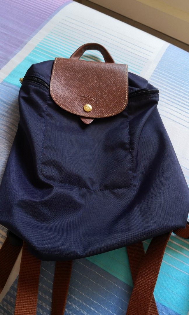 Longchamp Le Pliage Backpack in Bilberry Made in France
