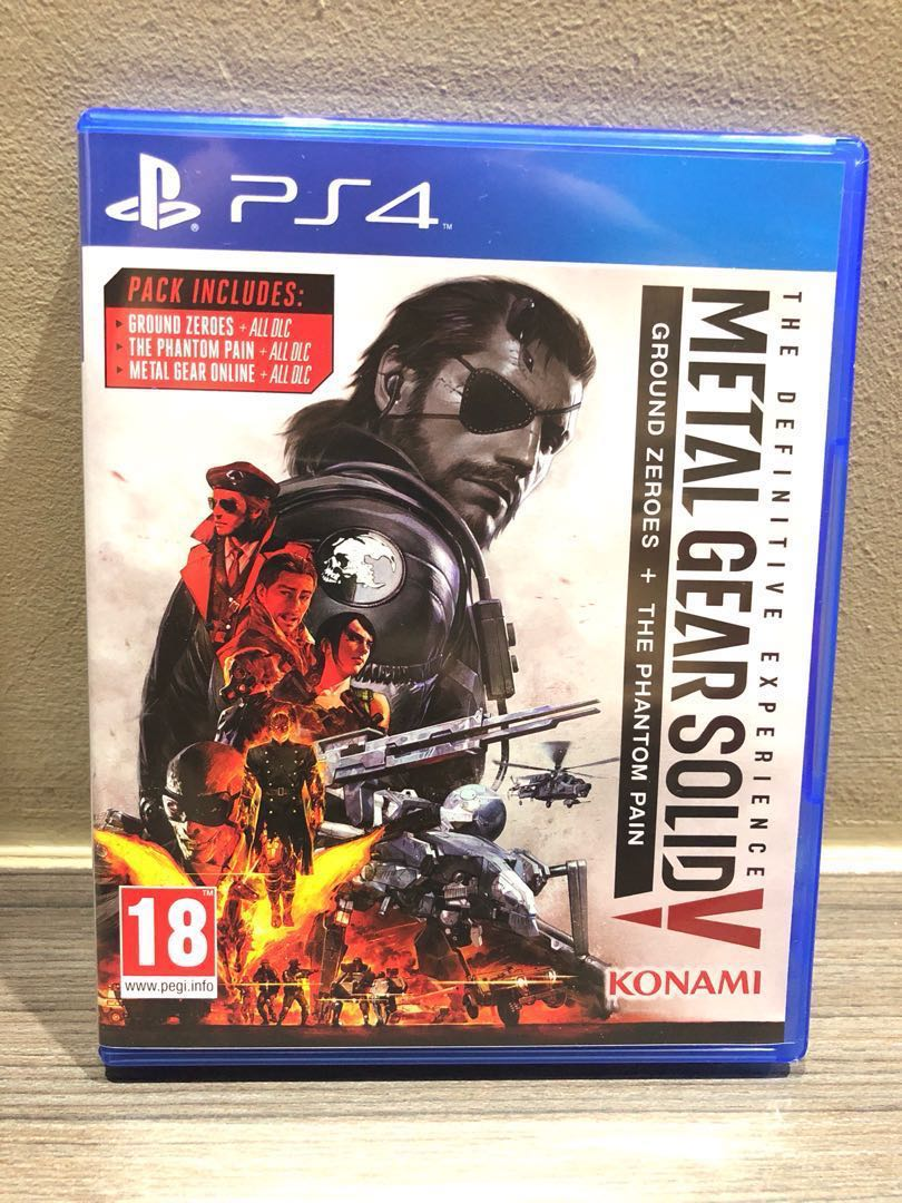 Metal Gear Soildground Zeros The Phantom Pain Toys Games Video Game Ps4 Solid V Definitive Experience Gaming On Carousell