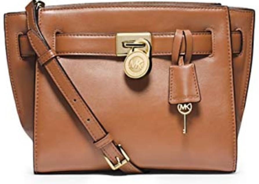 a56d22cc7e7352 Michael Kors Hamilton Traveller Messenger Leather Bag, Women's ...