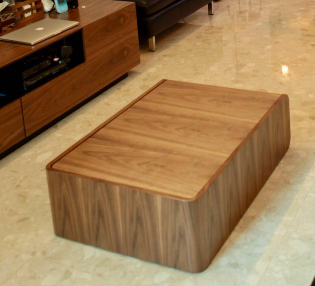 Modern Solid Wood Coffee Table With Storage Furniture Tables Chairs On Carousell