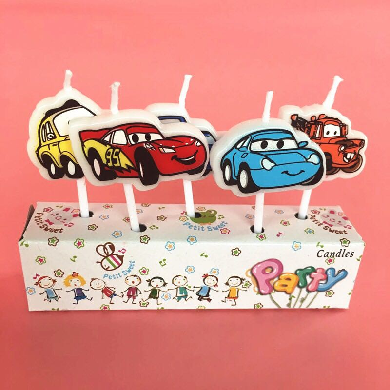 New Mcqueen Cars Disney Car Birthday Cake Topper Decorations Candles