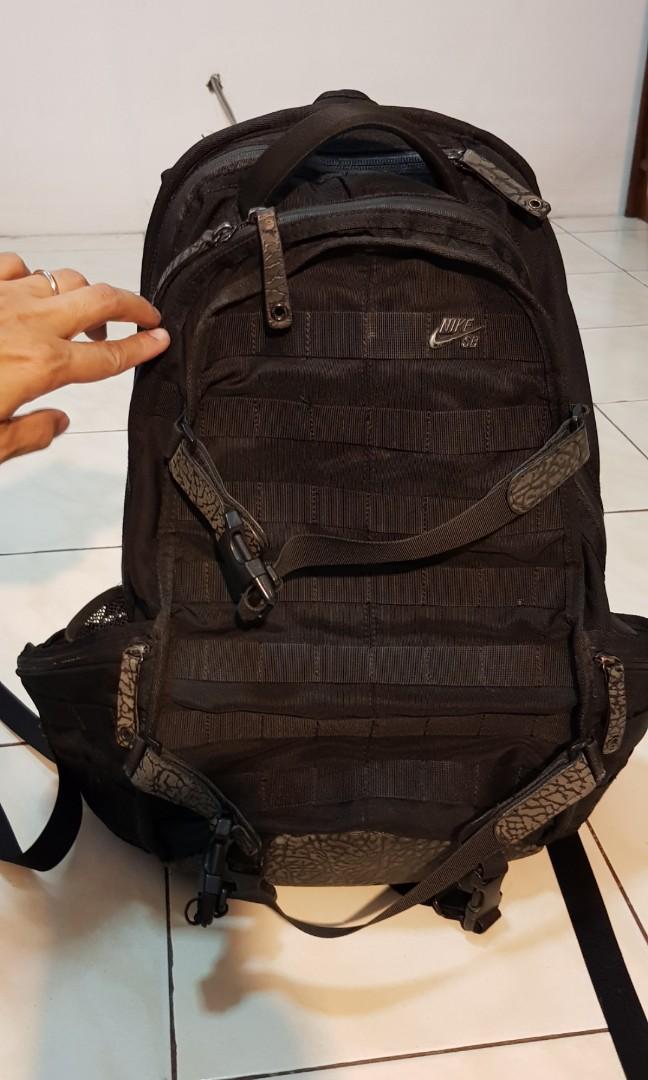 promo code 3c14c 2ea08 Nike SB Backpack - Elephant print black, Luxury, Bags   Wallets on Carousell