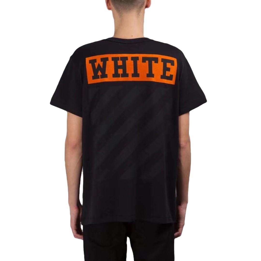 1b141083c7 OFF-WHITE 16SS BLACK WHITE ORANGE BOX T-SHIRT