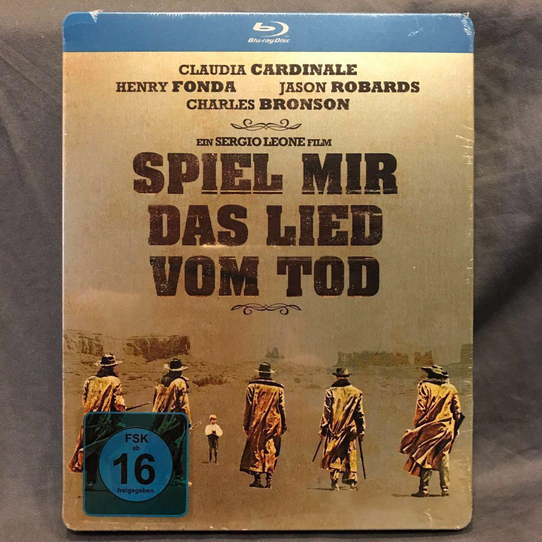 ONCE UPON A TIME IN THE WEST Blu-ray Steelbook Germany (Includes Poster) [OOP Rare]