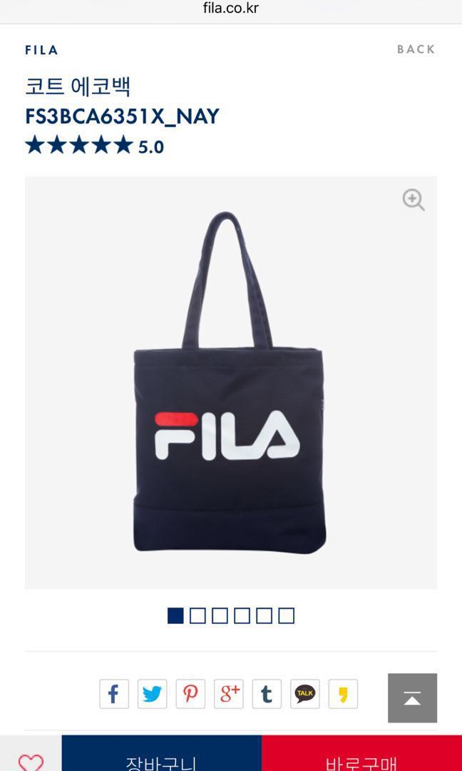 PO New authentic FILA navy tote bag from Korea, Women s Fashion ... a4b50d390a