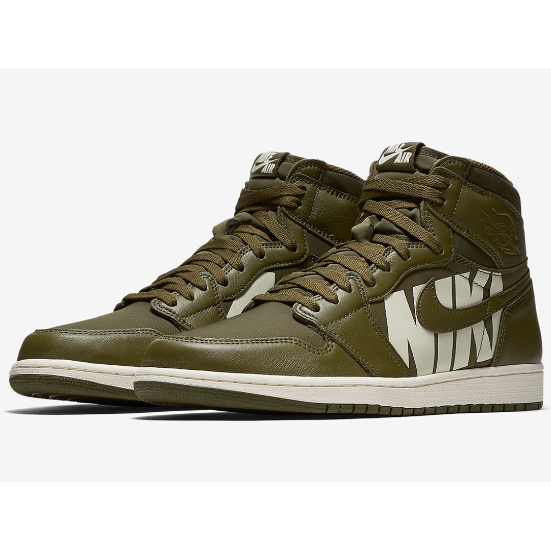 "a88d01eda13162 P.O  The Air Jordan 1 Retro High OG ""Olive Canvas"""
