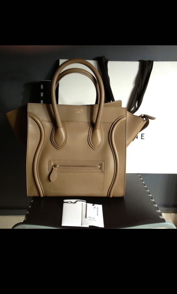 PRICE REDUCED!  CELINE Mini Luggage in Camel (Smooth Calfskin ... ba5bbea8be
