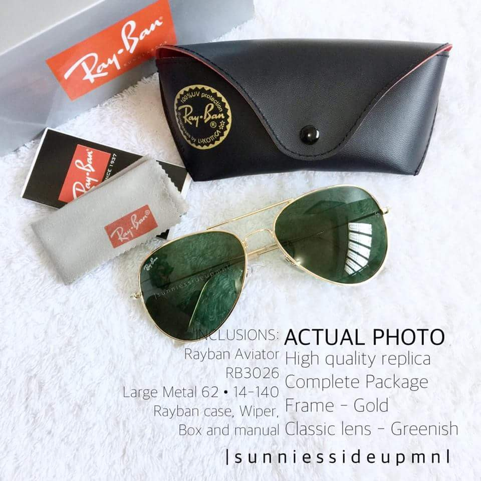 Rayban Aviator gold green classic. exact copy, Women s Fashion, Accessories  on Carousell 814080848cda