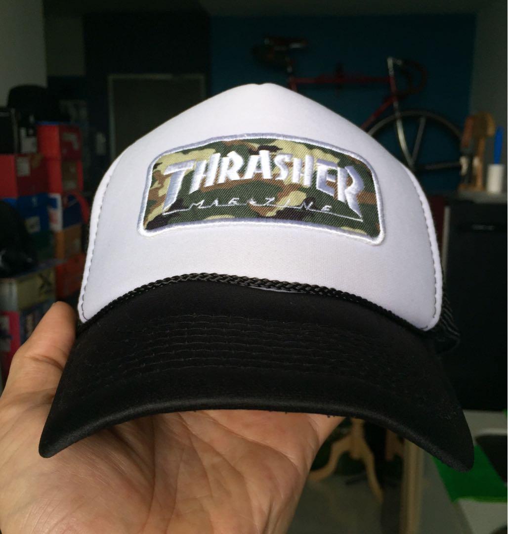 2f1e7990b95 Thrasher mesh trucker cap snapback new era supreme palace yeezy ...