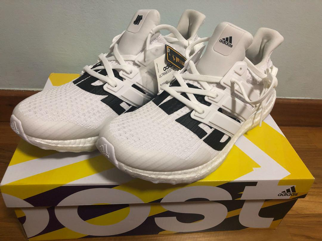 Undefeated X Adidas Ultraboost White 1.0, Men's Fashion