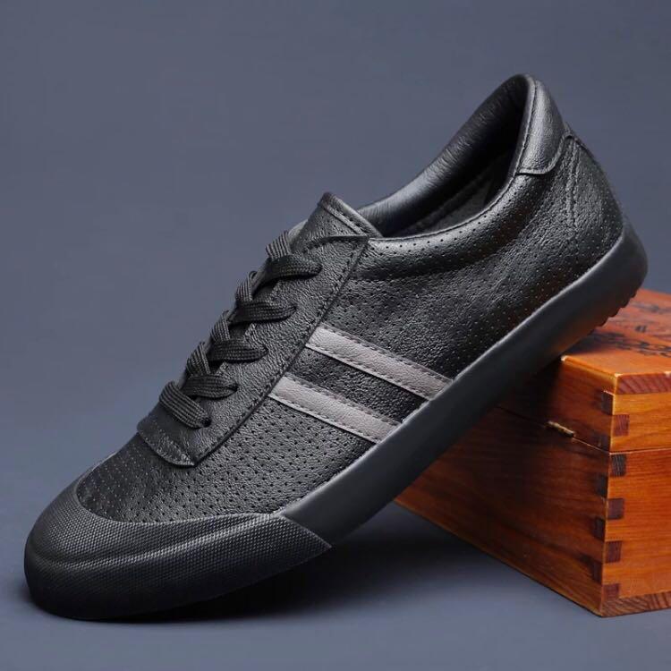 Ventilated Two Stripe Sneaker, Men's