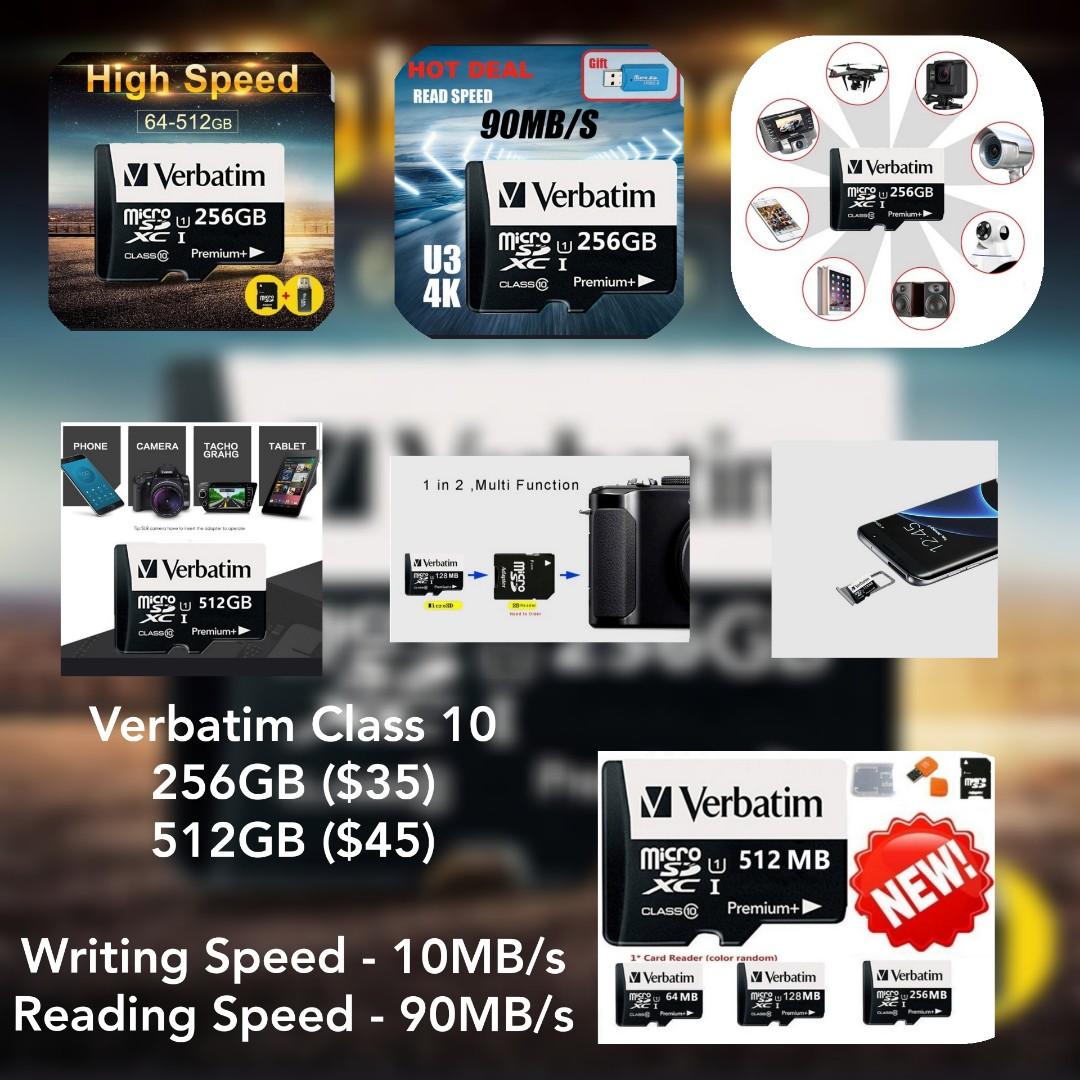 Verbatim 256GB Micro SD Card