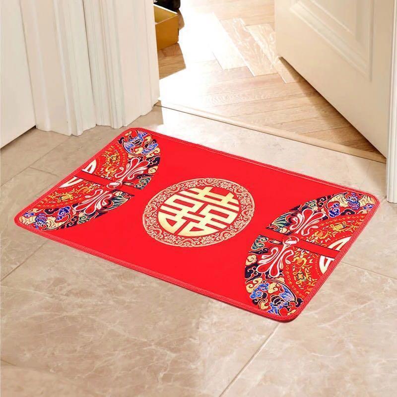 Wedding anti slip shuang xi decor Floor