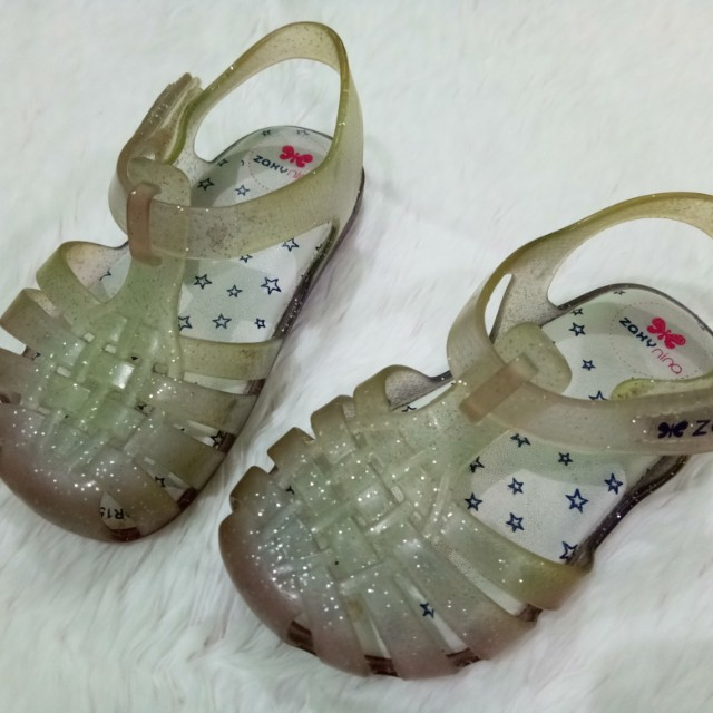 ebe8a7c6f394 Repriced! Zaxy Nina Clear Glitter shoes size 7