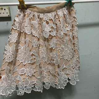 BN Nude Floral Skirt